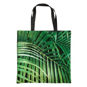 Patterned Beach Bag | Green/leaf | H&m home | H&M US
