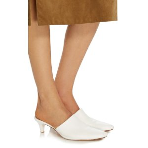 Andrea Leather Mules