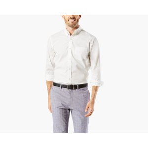 NO WRINKLE Shirt, Standard Fit | PAPER WHITE | Dockers® United States (US)