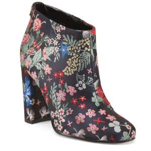 Heeled Jacquard Booties