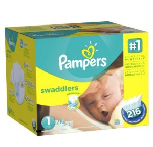 $17.47Pampers Swaddlers Newborn Diapers Size 1, 216 Count