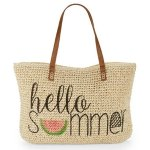 Straw Beach Tote @ Lord & Taylor