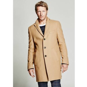 Classic Melton Coat at Guess