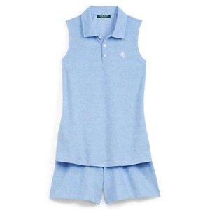 Piqu� Sleep Polo & Short Set - Sleepwear & Robes � Women - RalphLauren.com