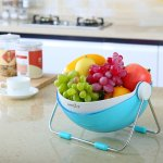 Lifewit Fruit Wash Bowl 360 Rotatable Lid Fruit Holder