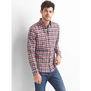 Oxford tartan standard fit shirt | Gap