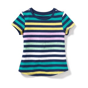 Patterned Scoop-Neck Tee for Toddler Girls | Old Navy