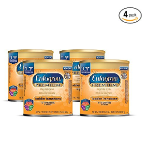$39Enfagrow PREMIUM Toddler Transitions Formula Powder, 20 Ounce Can, Pack of 4
