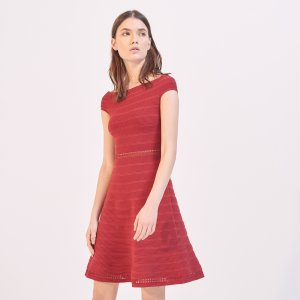 Dress With Bardot Neckline - Dresses - Sandro-paris.com