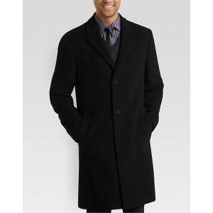 Calvin Klein Black Classic Fit Car Coat - Men's Topcoats   Men's Wearhouse