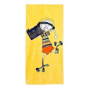 Little Marc Jacobs Yellow Mr Marc Rollerdisco Towel | AlexandAlexa