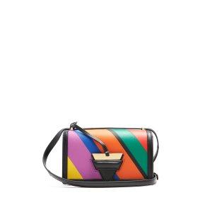 Barcelona striped leather shoulder bag | Loewe