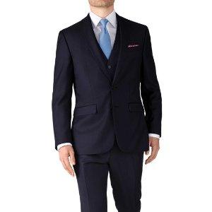 Navy slim fit twill business suit | Charles Tyrwhitt