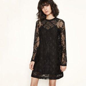 ROSSA Short lace patchwork dress - Dresses - Maje.com