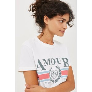 PETITE 'Amour' Graphic T-Shirt - Petite - Clothing - Topshop USA