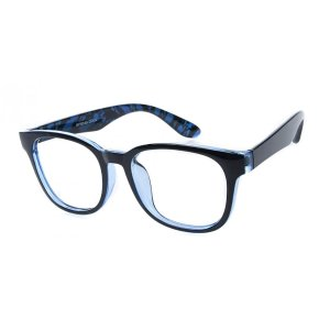 Naples Wayfarer - Black/Blue Eyeglasses