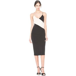 Aurora Colorblock Fitted Dress | Alice + Olivia