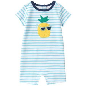 Baby Icy Blue Stripe Pineapple 1-Piece by Gymboree