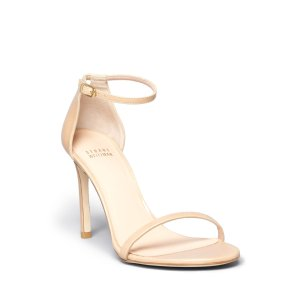 Stuart Weitzman Nudistsong High Heel Patent Ankle Strap Sandals | Bloomingdale's