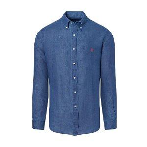 Ocean-Wash Linen Sport Shirt