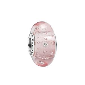 Rue La La — PANDORA Silver Pink Murano Glass Charm