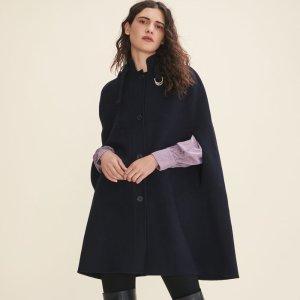 GISELE Double-sided wool cape