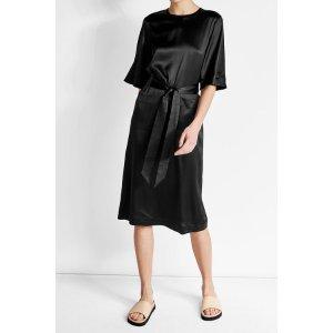 Silk-Blend Dress with Belt Tie - Deitas | WOMEN | US STYLEBOP.COM