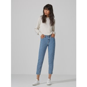 The Stevie High-Waisted Tapered Jean in Light Indigo