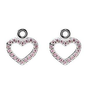 PANDORA Be My Valentine Silver CZ Earring Charms