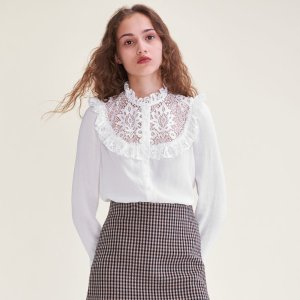 CAPRICE Blouse with lace insets on the chest
