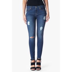 b(air) Denim Ankle Skinny with Destroy in Reign - 7FORALLMANKIND