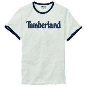 Men's Short Sleeve Linear Logo Ringer T-Shirt | Timberland US Store