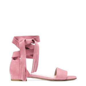 Corbata Ankle-Wrap Sandals - Shoes | Shop Stuart Weitzman