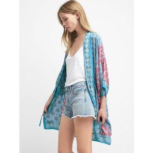 Lightweight print kimono | Gap