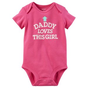 Baby Girl Daddy Loves This Girl Collectible Bodysuit | Carters.com