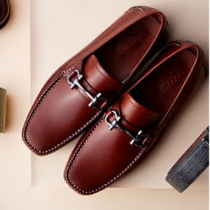 Grandioso Bit Leather Loafers