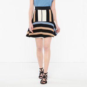 Flared Skirt With Asymmetric Bands - Skirts - Sandro-paris.com