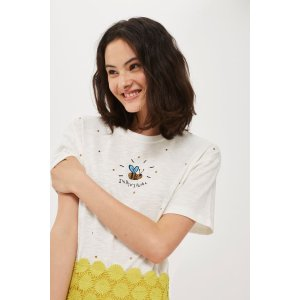 Embellished Bee T-Shirt by Tee & Cake - Tops - Clothing - Topshop USA
