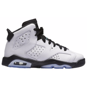 Jordan Retro 6 - Boys' Grade School - Basketball - Shoes - White/White/Hyper Jade/Black