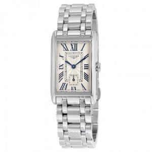 Longines DolceVita Ivory Dial Stainless Steel Ladies Watch