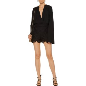Broderie anglaise cotton-blend gauze shorts | Valentino | US | THE OUTNET