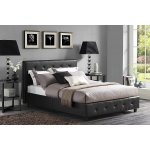 DHP Dakota Faux Leather Tufted Upholstered Platform Bed with Headboard and Side Rails, FULL