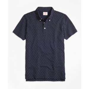 Micro-Dot-Print Polo Shirt - Brooks Brothers