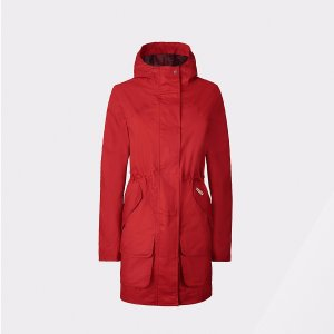 Womens Red Cotton Hunting Coat | Official US Hunter Boots Store