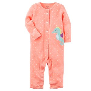 Baby Girl Neon Snap-Up Footless Sleep & Play | Carters.com
