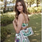 GEMINI LINK PRINTED LARGE CHAIN SHOULDER BAG