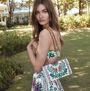 Up To 30% Off GEMINI LINK PRINTED LARGE CHAIN SHOULDER BAG