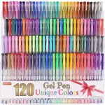 Shuttle Art 120 Unique Colors (No Duplicates) Gel Pen Set