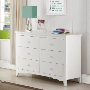 Baby Relax Lakeley White 6 Drawer Dresser - Free Shipping Today - Overstock.com - 18308432