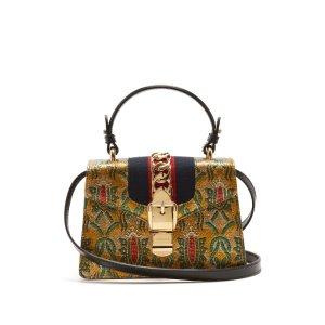 Sylvie mini brocade shoulder bag | Gucci